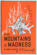 Books:Horror & Supernatural, H. P. Lovecraft. At the Mountains of Madness and OtherNovels. Sauk City, Wisconsin: Arkham House: Publishers, 1...