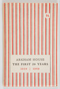 Books:Horror & Supernatural, August Derleth. Arkham House: The First 20 Years 1939-1959.A History and Bibliography. Sauk City, Wisconsin...