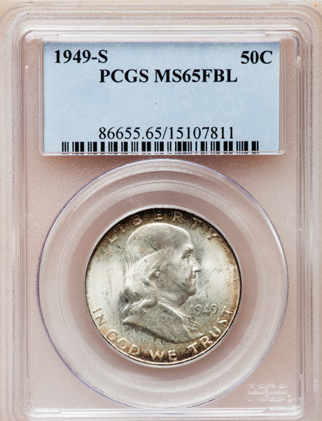 1949-S 50C MS65 Full Bell Lines PCGS  PCGS Population (461/131)  NGC