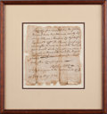 Autographs:Military Figures, Revolutionary War: Certificate of Military Service....