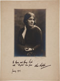 Autographs:Artists, Artist Clare Leighton Inscribed and Signed Photograph....