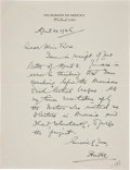 Autographs:Celebrities, [Florence Rose] Autograph Letter Signed...