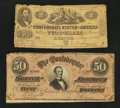 Confederate Notes:1862 Issues, T42 and T66.. ... (Total: 2 notes)