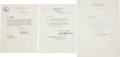 Autographs:Statesmen, [John F. Kennedy] Trio of Typed Letters Signed by John F. KennedyEra Statesmen.... (Total: 3 Items)