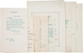 Autographs:U.S. Presidents, [Theodore Roosevelt] Cabinet Members' Letters Signed (9),...(Total: 9 Items)