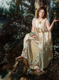 Paintings, DAVID M. BOWERS (American, 20th Century). Slipping Away. Oil on panel. 11 x 8 in.. Signed lower left. ... (Total: 2 Items)