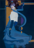 Pin-up and Glamour Art, ROBERT PEAK (American, 1927-1992). Blue Indigo. Mixed mediaon board. 52 x 37 in.. Signed lower right. ...