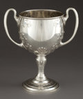 Silver Holloware, American:Cups, AN INTERNATIONAL SILVER TWO-HANDLED TROPHY CUP . InternationalSilver Co., Meriden, Connecticut, circa 1900. Marks: (bird in...(Total: 2 Items)