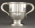 Silver Holloware, British:Holloware, A WELBY EDWARDIAN TWO-HANDLED SILVER TROPHY CUP . Daniel & JohnWellby, London, England, circa 1905-1906. Marks: (lion passa...