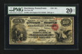 National Bank Notes:Pennsylvania, Harrisburg, PA - $10 Original Fr. 409 The First NB Ch. # 201. ...
