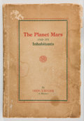 Books:Science Fiction & Fantasy, J. L. Kennon. Iros Urides. The Planet Mars and ItsInhabitants. A Psychic Revelation. [n. p., Mabel McKean,1922...