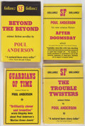 Books:Signed Editions, Poul Anderson. Four First Edition Books Published By Gollancz, including: Guardians of Time. 1961. [and:] ... (Total: 4 Items)