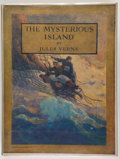 Books:Science Fiction & Fantasy, [Jerry Weist]. N. C. Wyeth, [illustrator]. Jules Verne. The Mysterious Island. New York: Charles Scribner's Sons, [1...