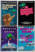 Books:First Editions, Douglas Adams. First American Editions of the Hitchhiker's Quartet,including: The Hitchhiker's Guide to the Galaxy.... (Total:4 Items)