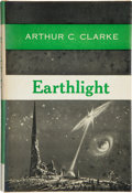 Books:First Editions, Arthur C. Clarke. Earthlight. New York: Ballantine Books,[1955]. First edition. Octavo. 186 pages. Publisher's boar...