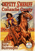 Books:First Editions, Edgar Rice Burroughs. The Deputy Sheriff of Comanche County.Tarzana: Edgar Rice Burroughs, [1940]. First editio...