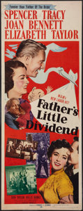"""Movie Posters:Comedy, Father's Little Dividend (MGM, 1951). Insert (14"""" X 36""""). Comedy.. ..."""