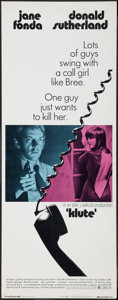 """Movie Posters:Thriller, Klute (Warner Brothers, 1971). Insert (14"""" X 36"""") and Half Sheet (22"""" X 28"""") Thriller.. ... (Total: 2 Items)"""