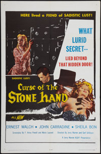 "Curse of the Stone Hand (A.D.P., 1965). One Sheet (27"" X 41""). Horror"