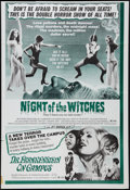 "Movie Posters:Horror, Night of the Witches/Dr. Frankenstein on Campus Combo (Medford Film, 1970). One Sheet (27"" X 41""). Horror.. ..."