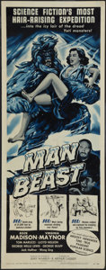 """Movie Posters:Science Fiction, Man Beast (Associated Producers, Inc., 1956). Insert (14"""" X 36"""").Science Fiction.. ..."""