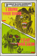 """Movie Posters:Horror, I Drink Your Blood/I Eat Your Skin Combo (Cinemation Industries, 1971). One Sheet (27"""" X 40""""). Horror.. ..."""