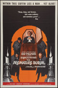 """Movie Posters:Horror, The Premature Burial (American International, 1962). One Sheet (27"""" X 41""""). Horror.. ..."""