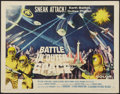 "Movie Posters:Science Fiction, Battle in Outer Space (Columbia, 1960). Half Sheet (22"" X 28"")Style B. Science Fiction.. ..."
