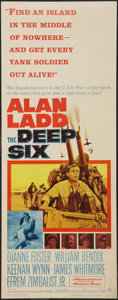 "Movie Posters:War, The Deep Six & Other Lot (Warner Brothers, 1958). Inserts (2)(14"" X 36""). War.. ... (Total: 2 Items)"