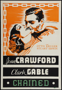 "Chained (MGM, 1934). Leader Press One Sheet (27"" X 41""). Drama"