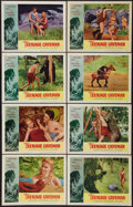 """Movie Posters:Science Fiction, Teenage Caveman (American International, 1958). Lobby Card Set of 8(11"""" X 14"""") and Hardcover Book (288 Pages, 6.25"""" X 9.25""""... (Total:9 Items)"""