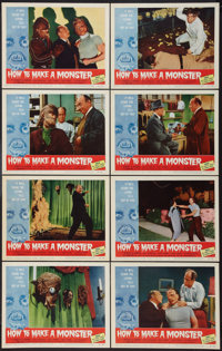 """How to Make a Monster (American International, 1958). Lobby Card Set of 8 (11"""" X 14"""") and Hardcover Book (288..."""