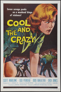 "The Cool and the Crazy (American International, 1958). One Sheet (27"" X 41"") and Hardcover Book (288 Pages, (6..."