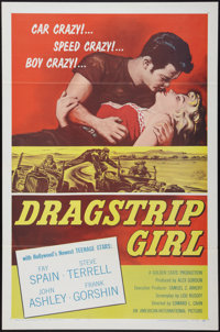"""Dragstrip Girl (American International, 1957). One Sheet (27"""" X 41"""") and Hardcover Book (288 Pages, 6.25' X 9..."""
