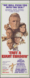 """Movie Posters:War, Cast a Giant Shadow (United Artists, 1966). Insert (14"""" X 36"""").War.. ..."""
