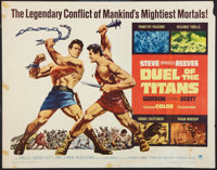 """Duel of the Titans & Other Lot (Paramount, 1963). Half Sheets (2) (22"""" X 28""""). Action. ... (Total: 2 Items..."""
