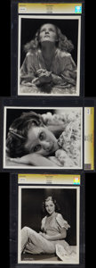 """Movie Posters:Adult, Starlet Portrait Photo Lot by Ernest Bachrach and Max Autrey (Various, 1930s). CGC Graded Portrait Photos (3) (8"""" X 10"""")... (Total: 3 Items)"""
