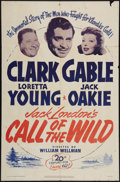 "Movie Posters:Adventure, The Call of the Wild (20th Century Fox, R-1953). One Sheet (27"" X41""). Adventure.. ..."