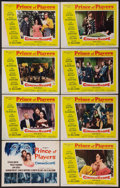 "Movie Posters:Drama, Prince of Players (20th Century Fox, 1955). Lobby Card Set of 8 (11"" X 14""). Drama.. ... (Total: 8 Items)"