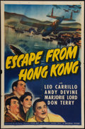 "Movie Posters:Adventure, Escape from Hong Kong (Universal, 1942). One Sheet (27"" X 41"").Adventure.. ..."