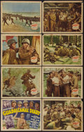 """Movie Posters:War, Guadalcanal Diary (20th Century Fox, 1943). Lobby Card Set of 8 (11"""" X 14""""). War.. ... (Total: 8 Items)"""