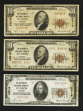 National Bank Notes:Missouri, Saint Louis, MO - The Boatmen's NB Ch. # 12916.. ... (Total: 3notes)