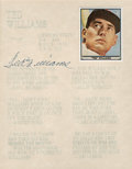 Baseball Collectibles:Others, Ted Williams Signed Display....