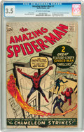 Silver Age (1956-1969):Superhero, The Amazing Spider-Man #1 (Marvel, 1963) CGC VG- 3.5 Off-white towhite pages....