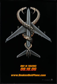 """Snakes on a Plane (New Line, 2006). One Sheet (27"""" X 40"""") DS Advance. Thriller"""