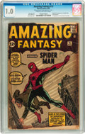 Silver Age (1956-1969):Superhero, Amazing Fantasy #15 (Marvel, 1962) CGC FR 1.0 Cream to off-whitepages....