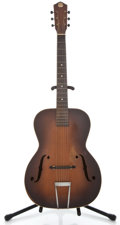 Musical Instruments:Acoustic Guitars, 1930's Kay DeLuxe Sunburst Archtop Electric Guitar ...
