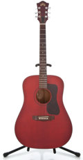 Musical Instruments:Acoustic Guitars, 1980's Guild D25 Cherry Acoustic Guitar #DA108291...