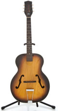 Musical Instruments:Acoustic Guitars, 1960's Harmony Broadway Sunburst Archtop Acoustic Guitar ...