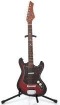 Musical Instruments:Electric Guitars, 1960's Kingston Single Pickup Red Burst Solid Body Electric Guitar...